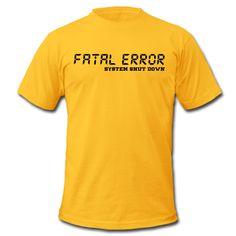 ZWEI SCHRIFTZÜGE: FATAL ERROR