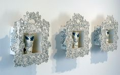Baroque Shadow Boxes with Finch Beakers by molly.hatch, via Flickr