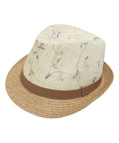 Another great find on #zulily! Brown & Ivory Floral Fedora #zulilyfinds
