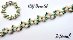 Easy beaded bracelet pattern. Tutorial for beginners  - YouTube