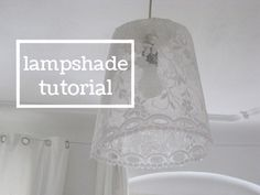 bioplastik lampshade - recipe and tutorial Lampshade Chandelier, Diy And Crafts, Lights, Creative, Projects, Prints, Handmade, Inspiration, Design
