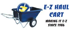 E-Z Haul Wheelbarrow can double as a decoy cart  1. It floats in about a half foot of water and has high sides so it does not easily tip over and spill gear 2. Inflatable tires, which is easier to push/pull than plastic or treaded tires that get clogged with mud 3. Simple design 4. It can hold about 3 dozen decoys, 2 poles for spinners, 3 backpacks and 3 guns, which is about its maximum load  5. Aftermarket parts are available. Parts if something does end up breaking