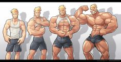 Commission - Muscle Growth Sequence by silverjow on deviantART★ Find more at http://www.pinterest.com/competing/