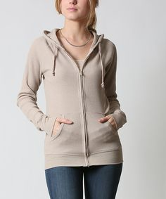 42POPS Oatmeal Thermal Zip-Up Hoodie | zulily . $13.29 $45.00 size: size chart	  S Product Description:  This chilly-weather basic features two pockets to keep hands warm and store essentials. Thermal fabric delivers all-day comfort.      54% cotton / 44% polyester / 2% spandex     Hand wash     Imported
