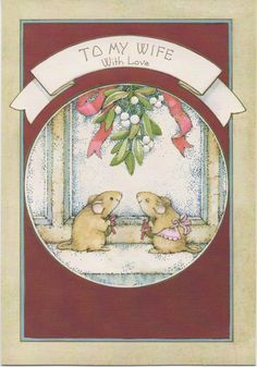 Used Christmas Card To My Wife. . . Merry Christmas 2 mice
