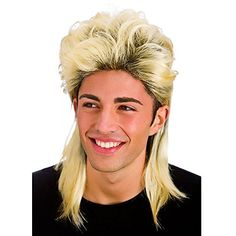 Mens Mullet Wig for Fancy Dress Cosplay Outfit 80s Mullet, Mullet Wig, Fancy Dress Accessories, Costume Accessories, 1980s Fancy Dress, Wicked Costumes, Long Hair Wigs, Wigs For Sale, Mullets
