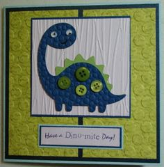 Craft with Bee: Dinosaur Pop-Up Card