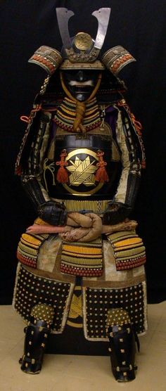 A full set of ancient Japanese Samurai armor.
