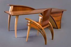 Shapely Wood Furniture - Sculptural Elements Echo Natural Influences in Seth Rolland's Designs (GALLERY)