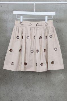 Eyelets Skirt from Mikkat Market.