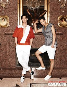 Song Jae Rim and Ohn Joo Wan - Cosmopolitan Magazine August Issue '14