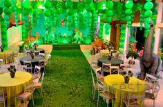 Festa Jurassic Park! O mundo dos dinossauros mais criativo e encantador! #party…