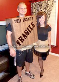 Art A Christmas Story Leg lamp Fragile box Halloween costume for couple (pair with Ralphie bunny and/or Randy bundled costume) halloween-pop-culture-costume-ideas