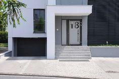 Dom w Wolsztynie House Entrance, Garage Doors, Building, Outdoor Decor, Magnolias, Aga, Envy, Design, Home Decor