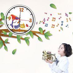 現代アートなモダン キャンバスアート 壁 壁掛け 時計  壁時計 キャラクター 小鳥 出産祝い 子供部屋【納期】お取り寄せ2~3週間前後で発送予定【fs04gm】ポイント【楽天市場】