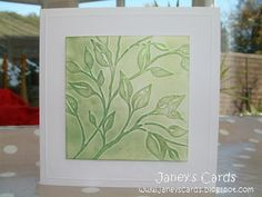 Using the Cuttlebug 'Leafy Branch' Embossing Folder