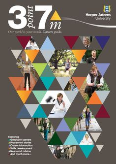 3point7m Careers Magazine by Harper Adams University and Z3 Design - good use of triangles and colour