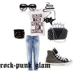 """rock-punk-glam"" by fabyblog on Polyvore"