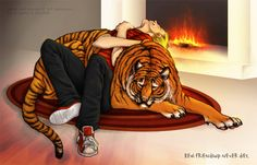 Calvin and Hobbes by Sashatiainen on deviantART