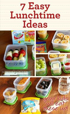 7 Simple Lunchtime Ideas - Click image to find more Kids Pinterest pins