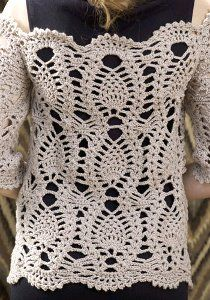 Off the Shoulder Sweater.  Very pretty. It is listed as in intermediate pattern, but it seems very easy.