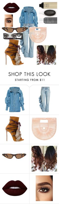 """Untitled #75"" by moody12 ❤ liked on Polyvore featuring Johanna Ortiz, Citizens of Humanity, Dsquared2, Cult Gaia, Lime Crime and Huda Beauty"