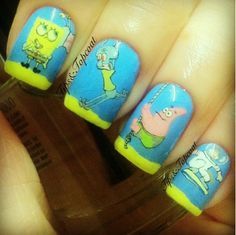 Spongebob Squarepants & Friends Nail Art!
