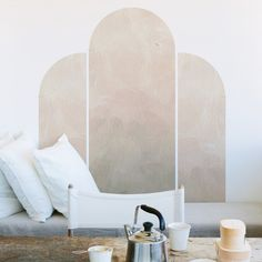 Wall Behind Bed, Bed Wall, Accent Wall Bedroom, Accent Walls, Wall Decals For Bedroom, Mural Wall, Wall Art, Pottery Barn Teen, Textured Walls