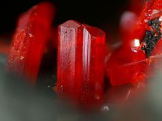 Realgar- As4S4 or AsS - Sulfide mineral