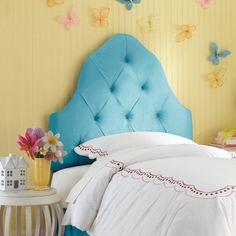Skyline Carly Tufted Headboard - Skyline Furniture, Azua Blue