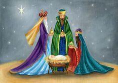 Ileana Oakley - Ileana Oakley Religious Three Kings And Manger