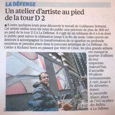 Guillaume Bottazzi - Journal Le Parisien - le 19/12/2014- Un atelier au pied de la tour D2