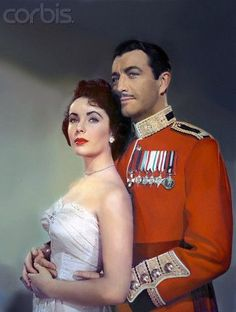 """Elizabeth Taylor and Robert Taylor for """"Conspirator"""" (1949)"""