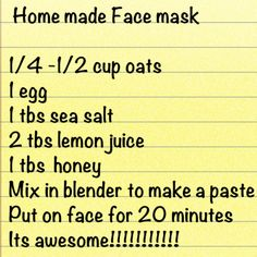 At home facial