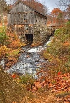 I love old barns and old bridges in the fall. by mara #provestra