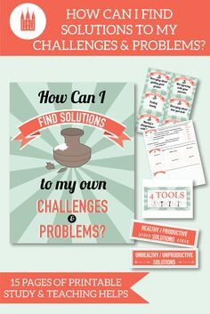 """How can I find solutions to my own challenges and problems?""  This is an awesome teaching package for November LDS Come Follow Me lessons!  #ldsyoungwomen #ldsteachinghelps #comefollowme"