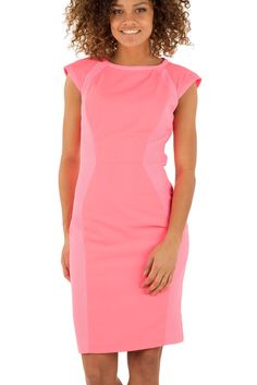 14bba16e2 Ted Baker JINEEN Pink Contrasting Bodycon Dress UK 10 14 16 RRP £159 Sold  Out