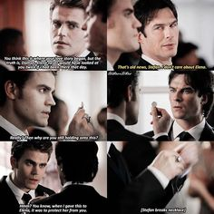 TVD [8x09] Sorry no caption rn I had to make this in 2 secs bc my parents won't leave me alone  — No-Humanity Stefan or Damon?