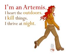 I'm an Artemis Greek Goddess Art Print. $10.00, via Etsy.