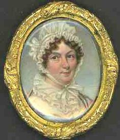Ruby Lane: retrato miniatura de alrededor de 1800's