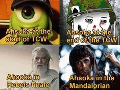 Star Wars Rebels, Star Wars Clone Wars, Star Wars Art, Ahsoka Tano, Jokes Pics, Funny Jokes, Funny Pics, Funny Stuff, Star Wars Jokes