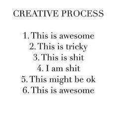 Yup. I go through these phases every single time. I am in between 3 and 4 right now. It's a dark, dark place.