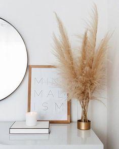 home decor minimalist pampas grass decor, minimali - Minimal Decor, Minimalist Home Decor, Minimalist Living, Australian Home Decor, Australian Homes, Home Design, Interior Design, Design Blogs, Design Design
