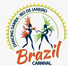 BrasilRio de JaneiroCarnavalEtiqueta, Brasileiro Carnaval Rio De Janeiro De Janeiro, Dançar Samba, Brasil Carnaval De 2018PNG e Vector