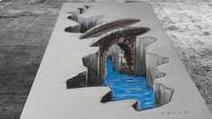 COOL CREATION IN 3D - Drawing Bridge - Awesome Anamorphic Illusion