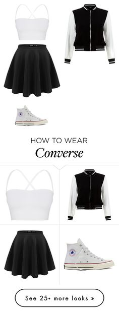 """Untitled #296"" by izzybean100 on Polyvore featuring Theory, New Look and Converse"