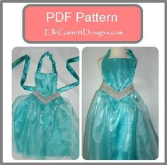 Looking for your next project? You're going to love Frozen Elsa Princess Apron by designer ElleGarrettDesigns.