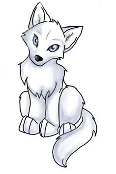 Anime Wolf Pup Easy - ClipArt Best