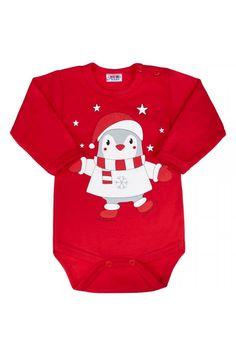 Kojenecké body s dlouhým rukávem New Baby Winter Penguin, Červená, 62 Baby Winter, Penguins, New Baby Products, Onesies, Kids, Outfits, Clothes, Fashion, Young Children