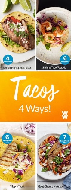 New years resolution: eat healthier foods, that are also delicious (like tacos!) Tap for 4 tasty taco recipes.
